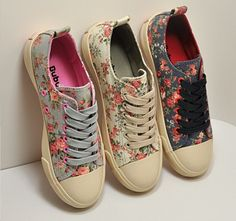 Floral Low Top Sneakers Canvas - would love to have one!