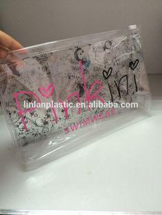 printed PVC zipper bag ,transparent PVC swimwear packaging bag,bikini bag