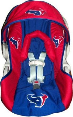 Houston texan infant car seat cover by dreammakersdesign, $85.00 Ok seriously....Texans know how to market to everyone! Ive never seen this in Minnesota sports teams gear! SO CUTE!