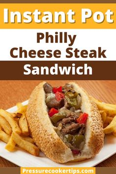 We love to use our Instant Pot and get creative. And the Philly Cheese Steak Sandwich is a perfect dish for us since is simple easy and delicious. And you dont even have to be from Philly to eat it! All jokes aside his recipe will make a great launch or dinner meal with all the nutrients and deliciousness that you need! #Instantpot #PhillyCheese #Steaksandwich #dinner #recipes #dinnerrecipes #IPrecipes #toprecipe #PhillyCheesesteak #Sandwiches #Sandwich #pressurecookertips Philly Cheese Steak Sandwich, Steak Sandwich Recipes, Steak Recipes, Steak Sandwiches, Cooking Recipes, Gourmet Sandwiches, Delicious Sandwiches, Shrimp Recipes, Crockpot Recipes