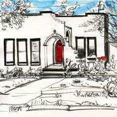 Urban Sketchers: A bit of Portland,Oregon and a bit of Austin.