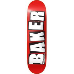 Baker Skateboard Deck OG Logo 8 White FREE GRIP & POST | snapchat @ http://ift.tt/2izonFx