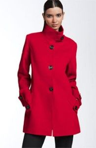 George Simonton Red Stand Collar coat. I have it in black but NEED it in red!