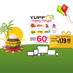 #YuppTV #Pongal Offer for #Australia customers. Save upto 60% and grab Yupp Tamil Silver package at just $179.99/year.. #YuppTVAUS Get it @ http://www.yupptv.com/allpackages.aspx