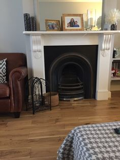 Victorian Style Arched Cast Iron Fireplace With Lovely Surround in Home, Furniture & DIY, Fireplaces & Accessories, Fireplaces Cast Iron Fireplace, Fireplace Mantels, Fireplaces, Victorian Fireplace, Bedroom Fireplace, Fireplace Accessories, Victorian Fashion, Beautiful Homes, Lounge