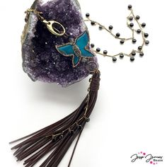 How-To Video: Butterfly Effect Necklace – Jesse James Beads Make Your Own Jewelry, I Love Jewelry, Jewelry Ideas, Unique Jewelry, Knitting Storage, Knitting Needle Sets, Buy Gems, Little Boy Blue, Crochet Hook Set