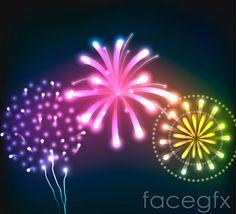 Colorful fireworks design vector