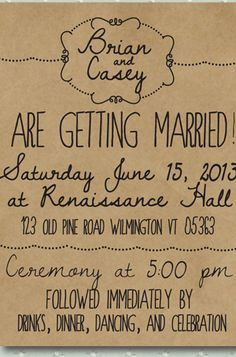8 Unique Handmade Wedding Invitations from Etsy: Lauren M. #Stylish365