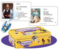 """Photo Occupations WH Questions Fun Deck with Secret Decoder - Super Duper Educational Learning Toy for Kids by Super Duper Publications. $34.95. Fun Super Duper Secret Decoder to check answers. Sturdy & compact tin can be taken anywhere. 120 Story Cards (5"""" x 3"""") with Colorful & Descriptive Photos. Each Card also includes five WH Questions. Educational - Helps children identify the main idea in a paragraph. This Super Fun Deck has 120 photo cards to help kids i..."""