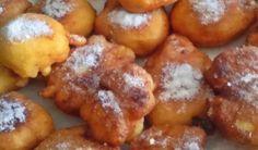 Buñuelos de Naranja / 1 naranja grande. 3 huevos medianos. 1 yogur natural (125 g). 200 g de harina de trigo. 1 cucharada grande de aceite. 1 sobre de levadura (16 g). una pizca de sal