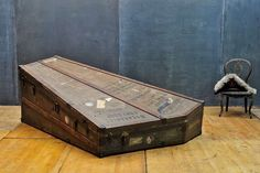 Monumental High Victorian Lyon Healy Inc. Harp Steamer Trunk image 4