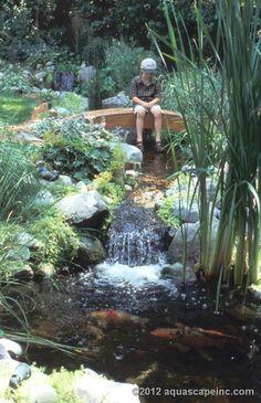 Using Landscape & Garden Bridges to Enhance your Backyard Ponds - Pond Contractor Services
