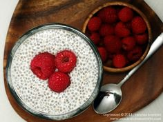 Vanilla chia pudding. LOVE chia seeds!!!