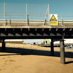 Danger! Strong currents. Harwich in Essex. October 2015.