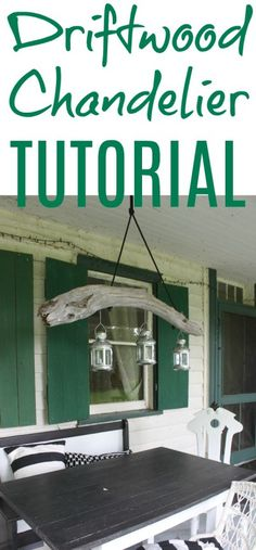 Easy Driftwood chandelier tuturial