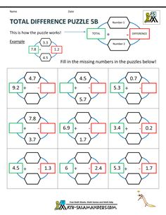 math worksheet : 1000 images about fifth grade math puzzles on pinterest  maths  : Subtraction Puzzle Worksheets