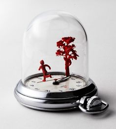 Dominic Wilcox, watch sculptures - another form of miniature world