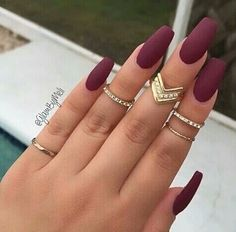 Adventure away from my matte black nails to matte Burgandy.. tis the season right?.