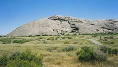Independence Rock, a site along the emigrant trails, Wyoming