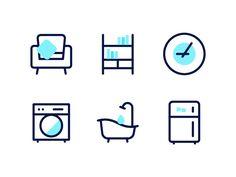 Super home icon design inspiration Ideas Brand Icon, Best Icons, Home Icon, Graphic Design Inspiration, Design Ideas, Icon Set, Doodles, Homecoming Dresses, Prom