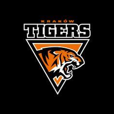 Krakow Tigers logo on Behance Tigres Logo, Leon Logo, Panther Logo, Sports Team Logos, Game Logo Design, Cat Logo, Sport Quotes, Animal Logo, Design Reference