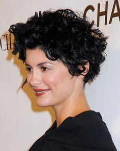I have short hair and I would love to style it more like Audrey Tautou's gorgeous hair cut.  My hair is very thick and I guess sort of getting wavy. What