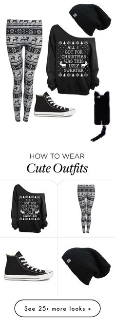 """""""Cute Christmas outfit"""" by aryluvyou on Polyvore featuring Converse and Missguided"""
