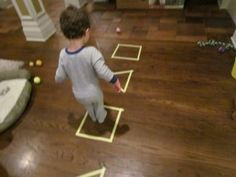 Gross motor Tape Shape Fun - - Re-pinned by #PediaStaff. Visit http://ht.ly/63sNt for all our pediatric therapy pins