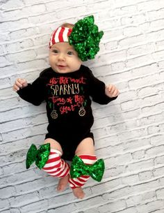 Baby girl leg warmers Leg warmers only Christmas by MyLittleMissCo