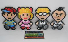 Earthbound Main Party Character Bead by CorneliusPixelCrafts
