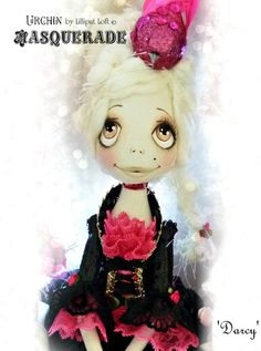 Urchin Art Doll by Vicki at Lilliput Loft ~Darcy from Masquerade Collection