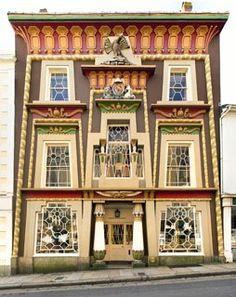 Egyptian-style house in Penzance, Cornwall, UK