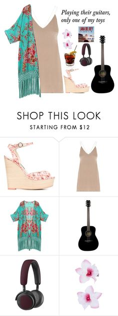"""Honeymoon: Music To Watch Boys Too"" by vale14m ❤ liked on Polyvore featuring Sophia Webster, Yamaha, B&O Play, Accessorize, lanadelrey and Honeymoon"