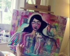 An afternoon of Intuitive Painting with Ivy Newport