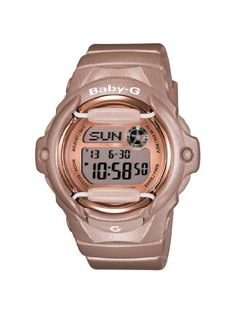 96a5a71aa0 Casio Women's BG169G-4 Baby G Pink Champaign Watch - http://dressfitme