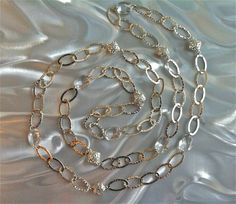 Long Glass n Chain Necklace $30.00 on mjcali1048@hotmail.com