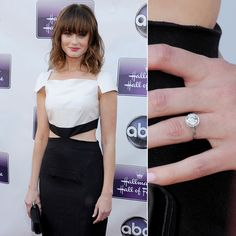 Mad Men's Vincent Kartheiser gave Alexis Bledel a round-cut diamond bauble when he proposed earlier this year.