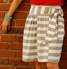 by Handmade Charlotte Skirt season is upon us! Here are some really fun and simple sewing projects that you can whip up in no time at all...