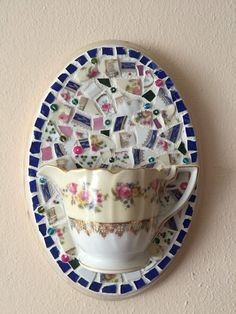 Crafty Projects, Projects To Try, Mosaic Planters, Mosaic Art Projects, Tile Crafts, Mosaic Madness, Cup Art, Bone China Tea Cups, Broken China