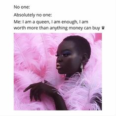 Repeat after me, I am a queen, I am enough, I am worth more than any money can buy. Self care starts with self talk so be ware of the stories you allow to play in your head. I Am Enough, Feeling Stressed, Self Talk, I Am A Queen, Successful Women, Proud Of Me, Self Love Quotes, Boss Babe, Best Memes