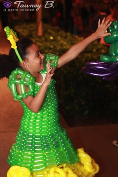 Balloon princess and the frog dress by designer Tawney B. http://worldinflated.com