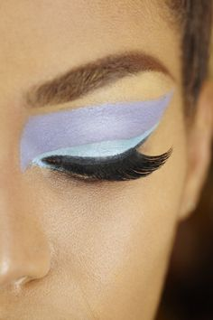#pastel blue and lilac #makeup