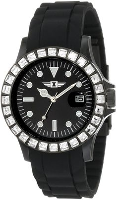 I by Invicta Women's IBI-10067-007 Black Polyurethane Watch ** Want to know more, click on the image.