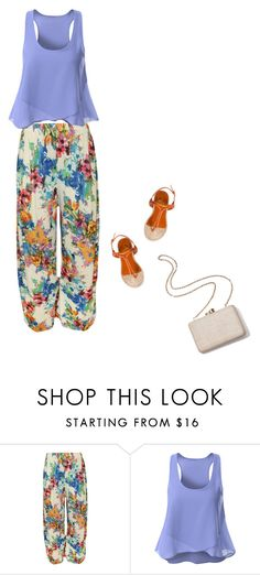"""""""Floral pants"""" by blueeyed-dreamer ❤ liked on Polyvore featuring WearAll, Charlotte Olympia, Kayu, casual, floral and sandals"""
