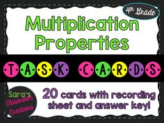 This task cards set contains 20 task cards to help your students practice…