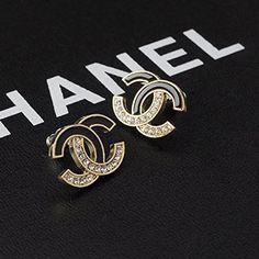 Women's Fashion Jewelry Stainless Steel and Crystal Ear Stud/ Earring (black&crystal) - MORE INFO @ http://www.laminatepanel.com/store/womens-fashion-jewelry-stainless-steel-and-crystal-ear-stud-earring-blackcrystal/?c=4447