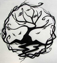 tree of life - I'd really like to get a tree of life on my back and work it into my claddagh that I already have.  I really like this design...