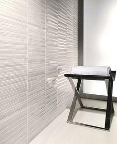 White tiles are plain but can still look fantastic in the right setting Colour Pattern, Pattern Design, Color, White Tiles, Blinds, White Bricks, Marmi, Shabby Chic, Desk