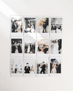 This is really too cute! A collection of polaroid photos of the wedding day!