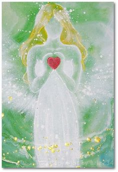 Limited angel art photo, modern angel painting, artwork, contemporary guardian angels, artist,. €10.00, via Etsy.